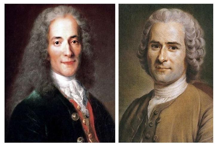 Voltaire - Jean-Jacques Rousseau