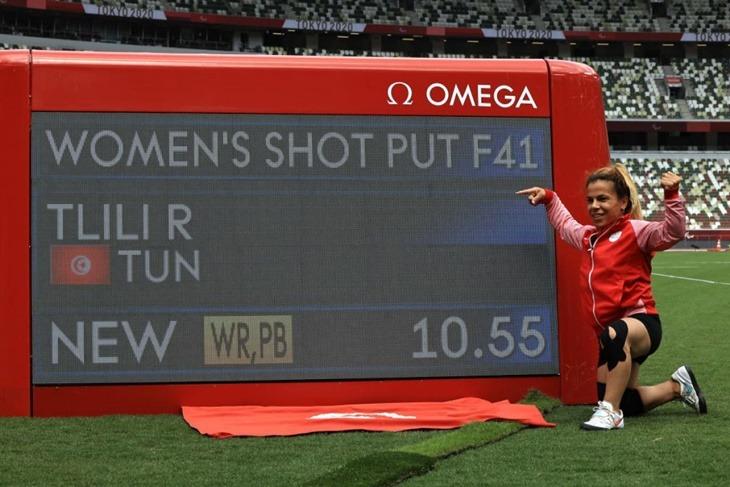 Raoua Tlili bat le record du monde au lancer poids aux Jeux paralympiques de Tokyo