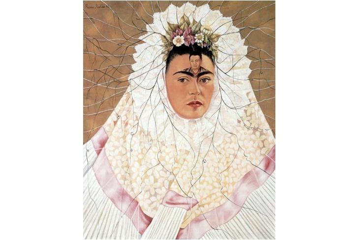 Autoportrait en robe Tehuana ou Diego dans mon esprit_Frida Kahlo