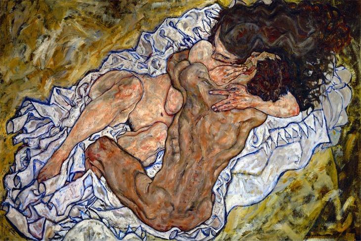 L_etreinte_Egon Schiele